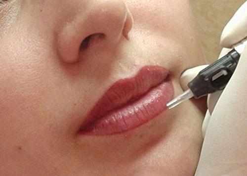 перманентный макияж с растушевкой